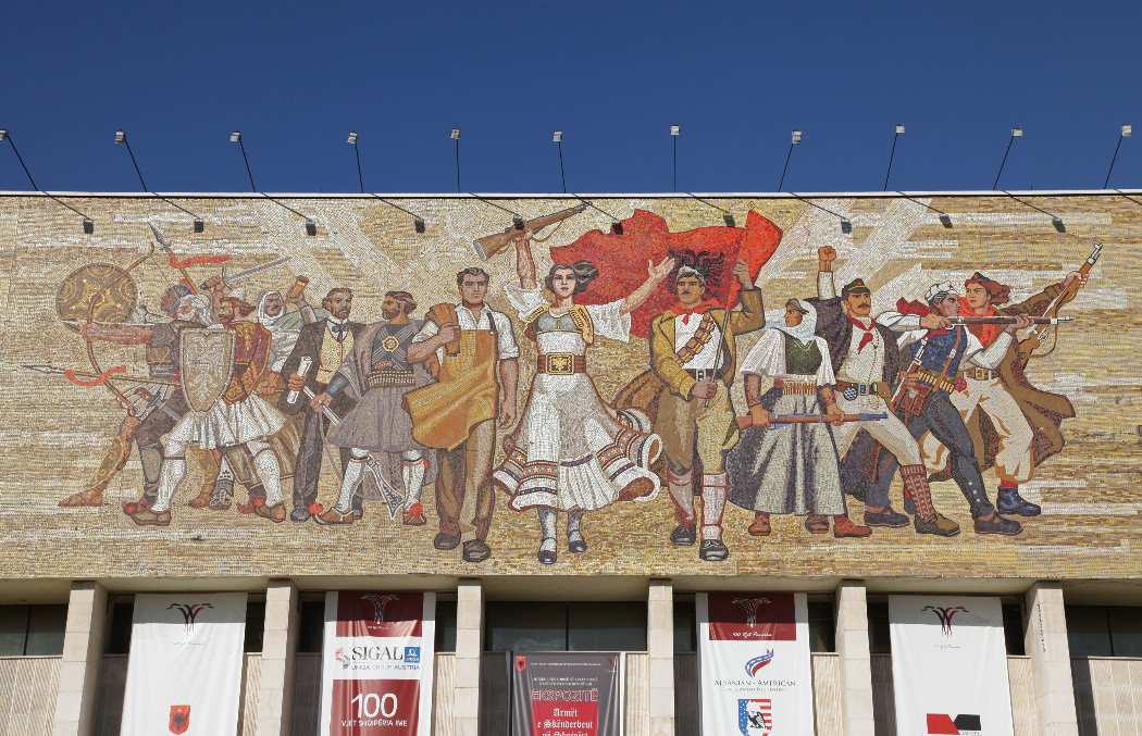 nationalistic mosaic National History Museum in Tirana