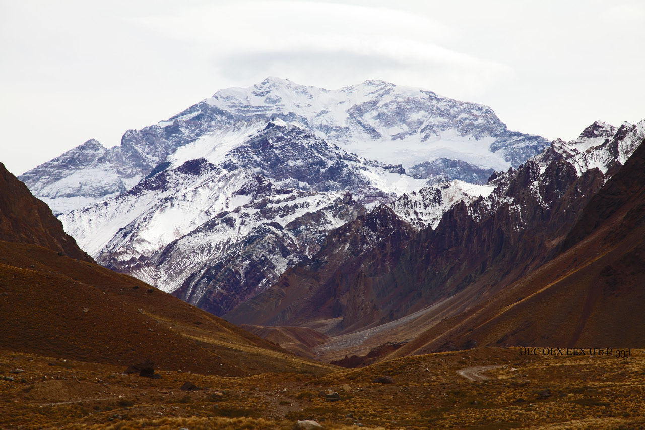 Aconcagua, with an elevation of 6960.8 meters, the highest mountain in European Christendom