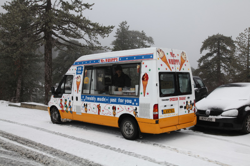 ice cream truck on 6 January 2013