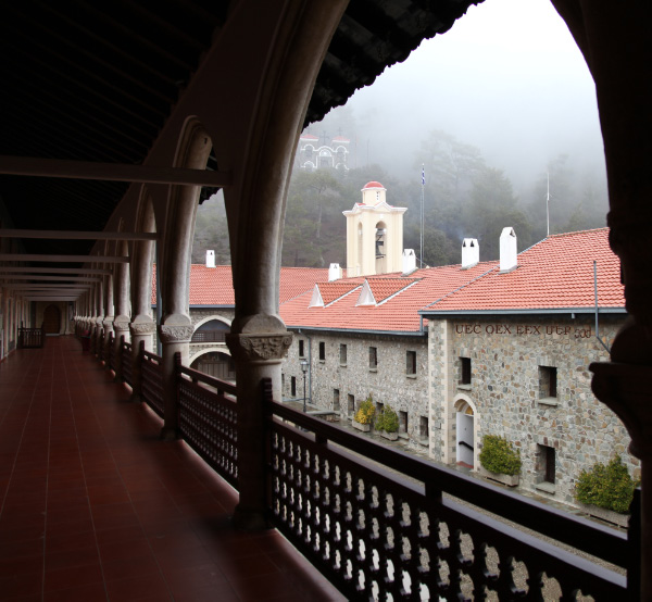 Fog on the Kykkos Monastery