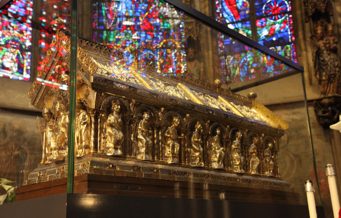 Karlsschrein - the Shrine of Charlemagne in Aachen Cathedral