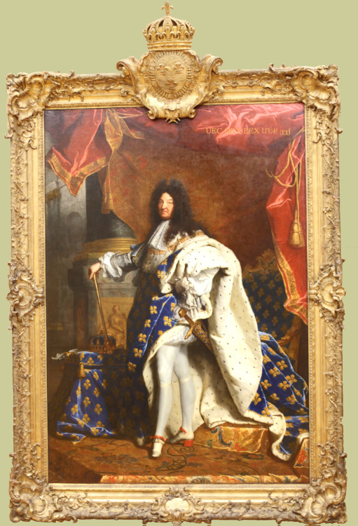 Louis XIV in Louvre by Rigaud