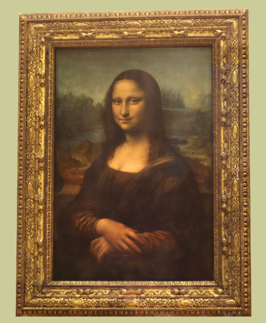 Mona Lisa by Leonardo da Vinci in the Louvre