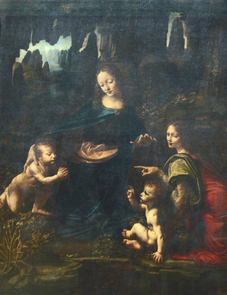 Virgin of the Rocks by Leonardo da Vinci in the Louvre