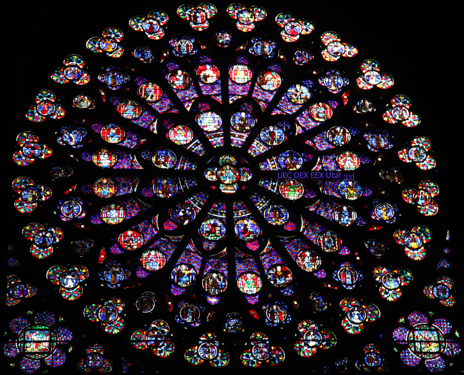 rose window in Notre Dame de Paris
