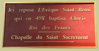sign in Basilica of Saint Remi in Reims
