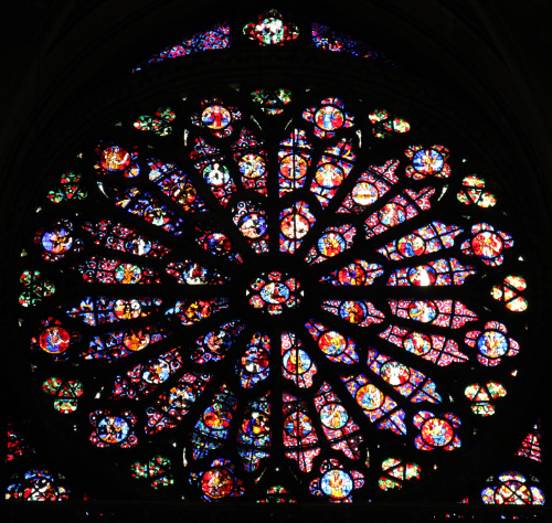 Rose window from Cathedral of Notre Dame in Reims