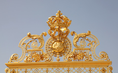 gate with golden crown at Versailles