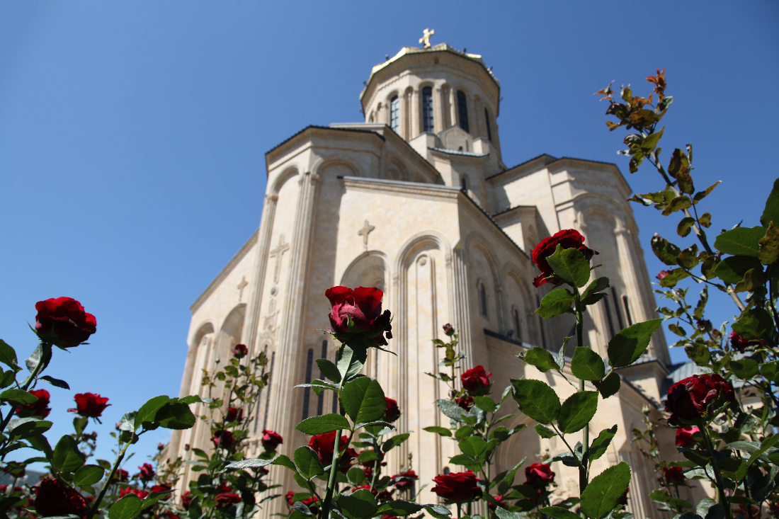 Holy Trinity Cathedral of Tbilisi in Georgia  Sakartvelo