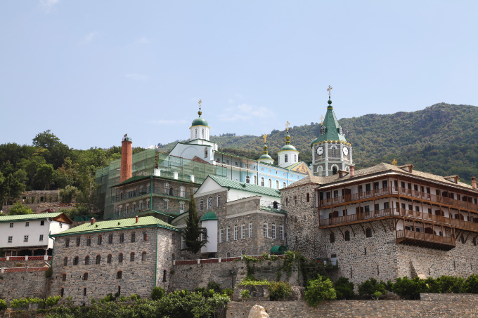 Saint Panteleimon Monastery from sea