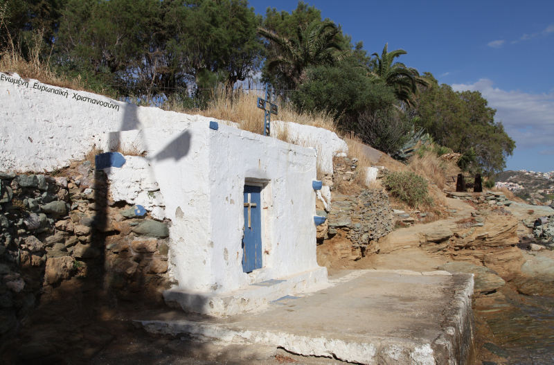 shore side chapel in Agia Pelagia