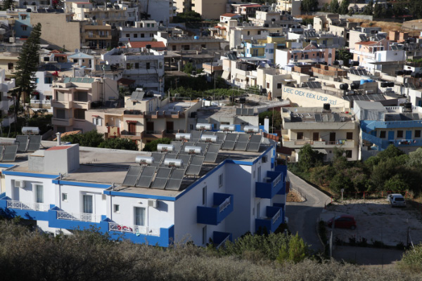 Solar Energy in Agia Pelagia Crete Greece