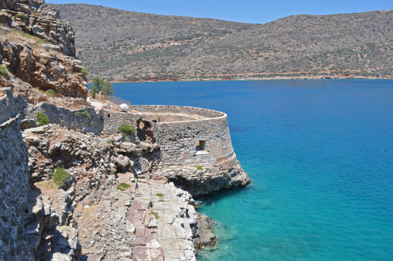 The Northern bastion Spinalonga Fortress Crete Greece European Christendom