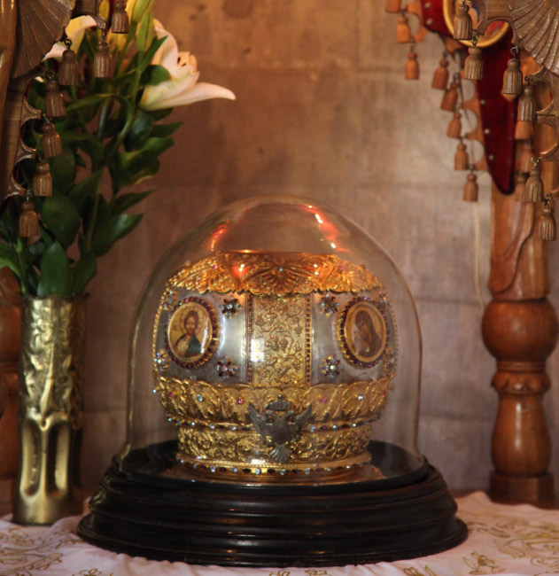 Reliquary for skull of Saint Titus in Iraklion Crete Greece
