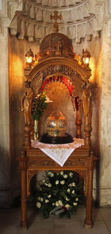 reliquary for and relics of Saint Titus in Heraklion
