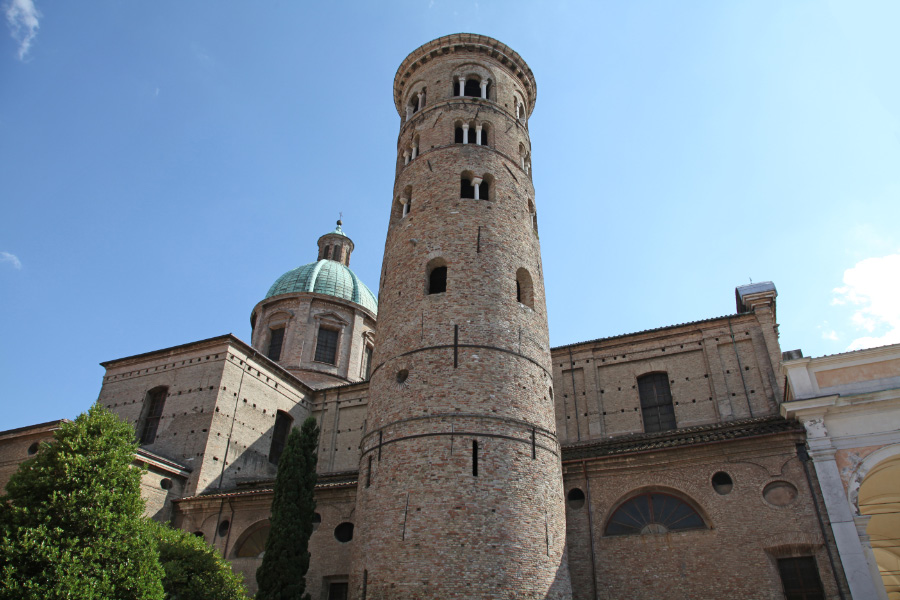 Romanesque campanile (bell tower) of the cathedral, dating from the 10th century.
