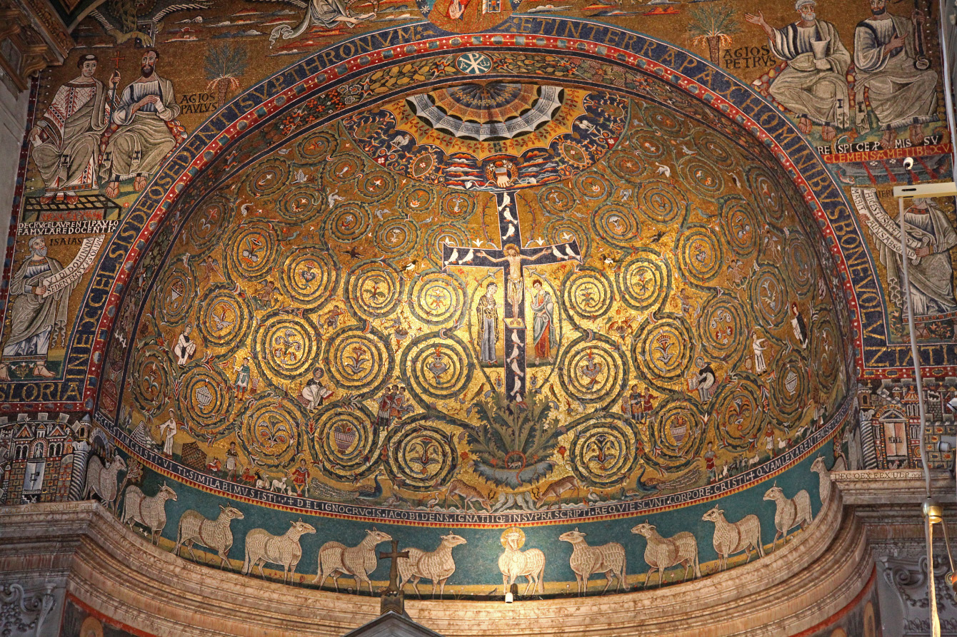 Apse Mosaic of Basilica of Saint Clement in Rome
