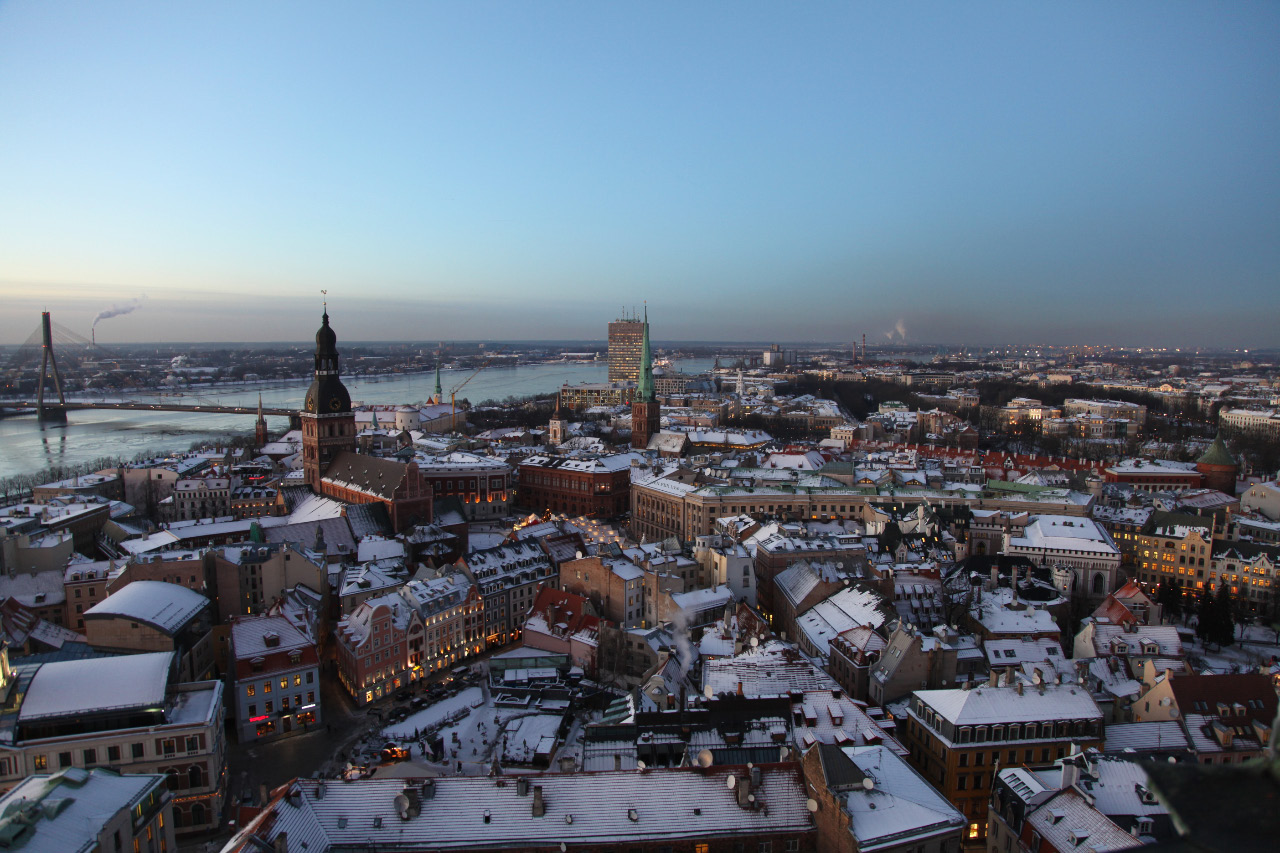 view of Riga from tower of Saint Peter Church