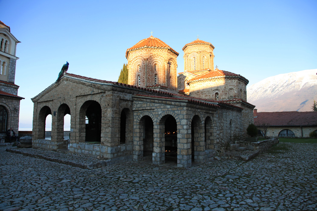 Monatery of Saint Naum on Lake Ohrid in Macedonia