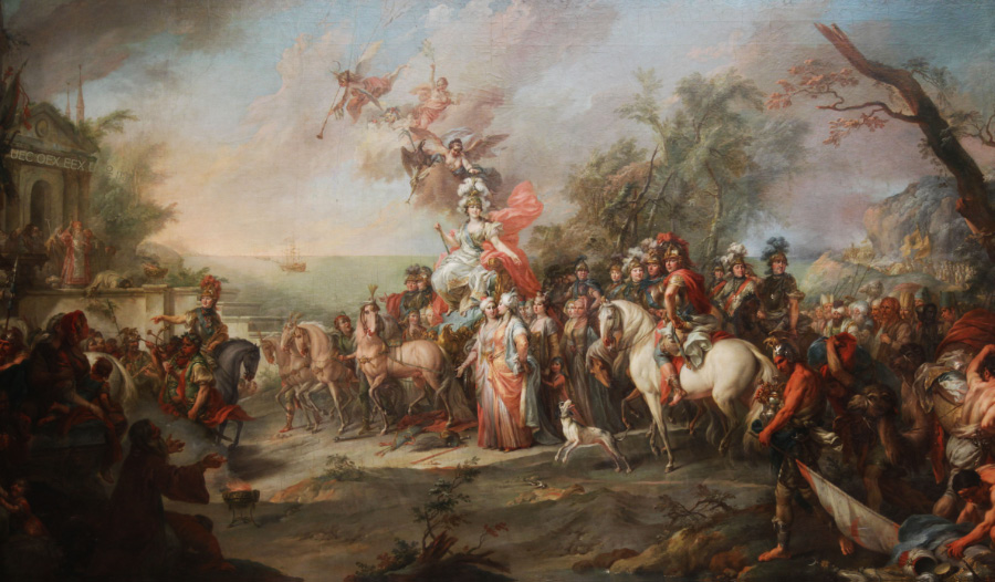 Catherine II over Turks Tartars by Torellis
