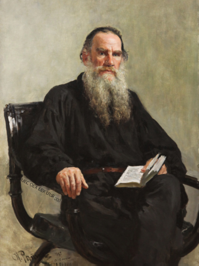 Tolstoy portrait by Repin