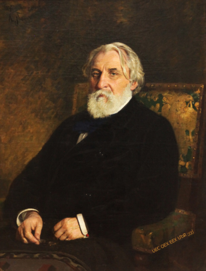 Turgenev portrait by Repin