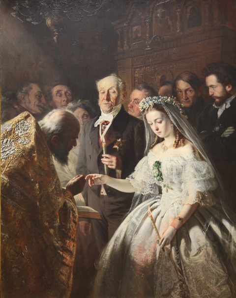 The Unequal Marriage by Pukirev in the Tretiakov
