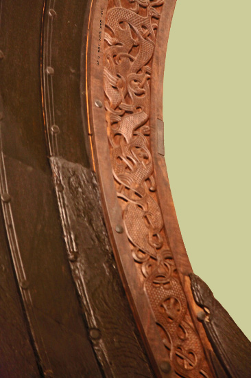 detail from Osebergskipet – Oseberg Ship