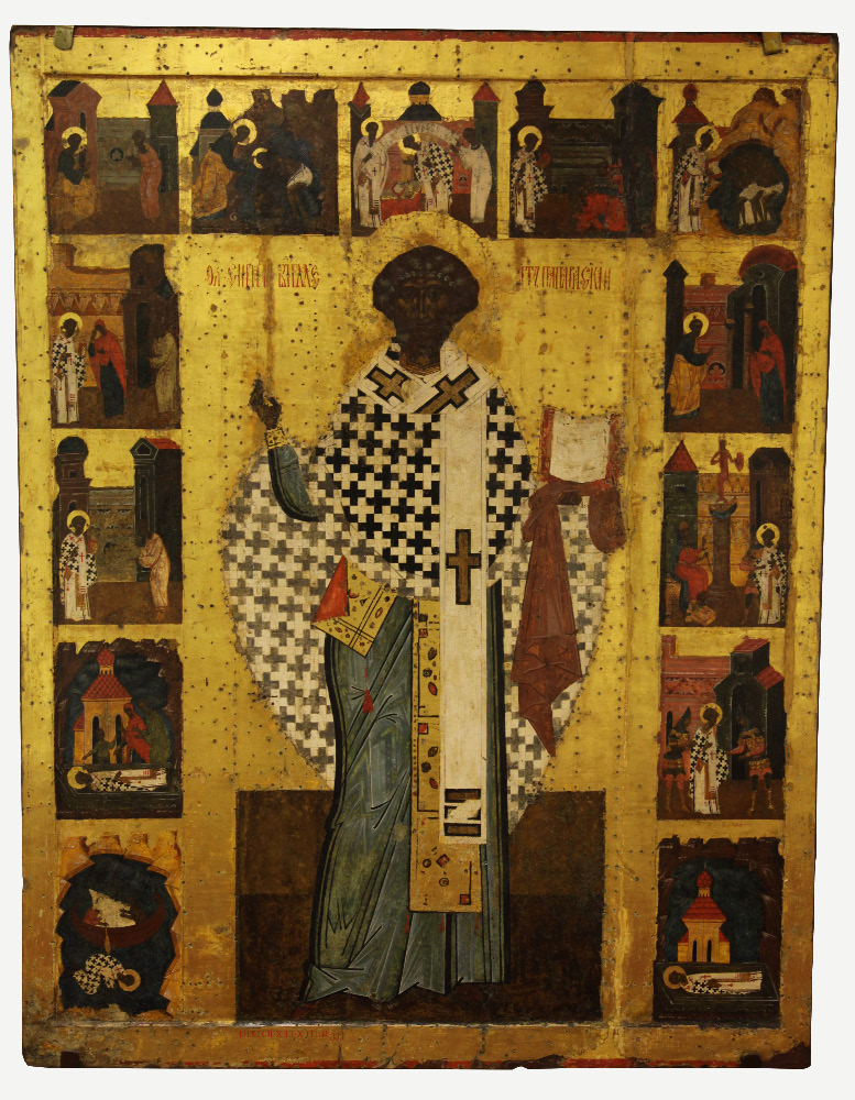 XVI century icon from Arkhangelsk Oblast of Pope Saint Clement