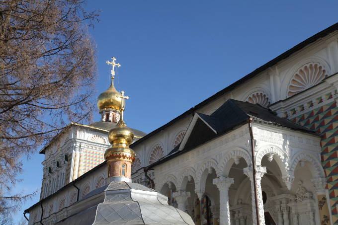 Cupola of Refectory with the Church of St. Sergius