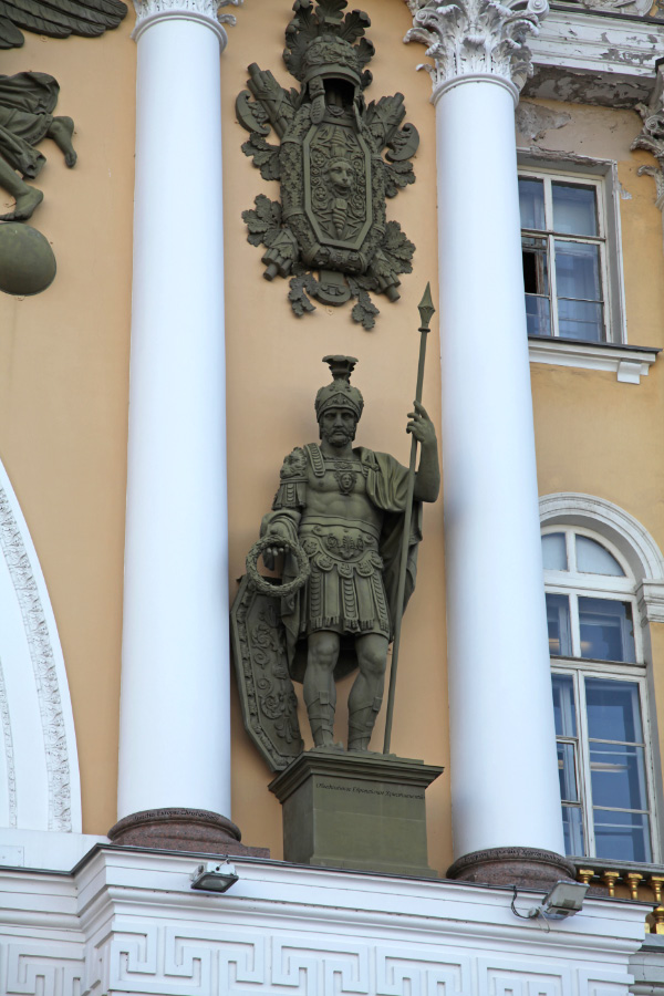 centurion armor, detail from General Staff Building – Здание Главного штаба