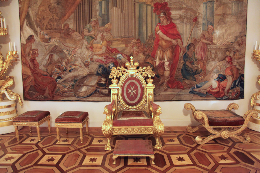 Matlese throne in Hermitage Saint Petersburg