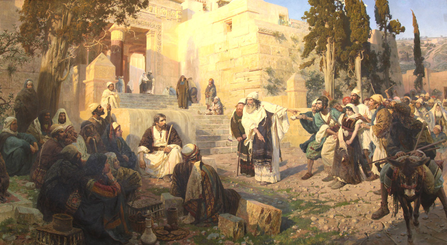 Christ and Adulterous by Vasily Polenov