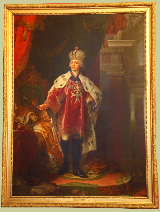 Portrait of Emperor Pavel by Borovikovsky