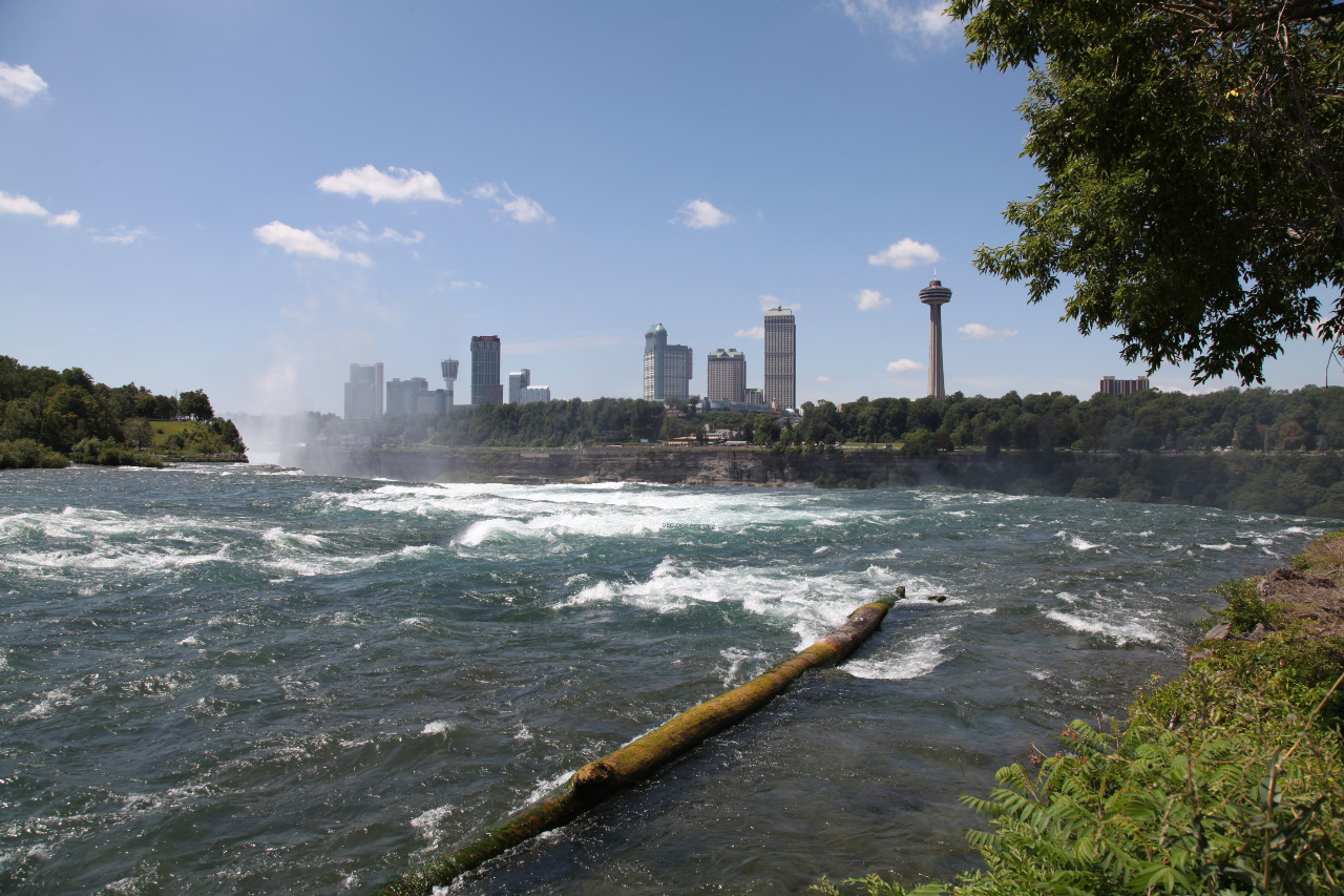 Niagara Falls Ontario from Niagara Falls New York