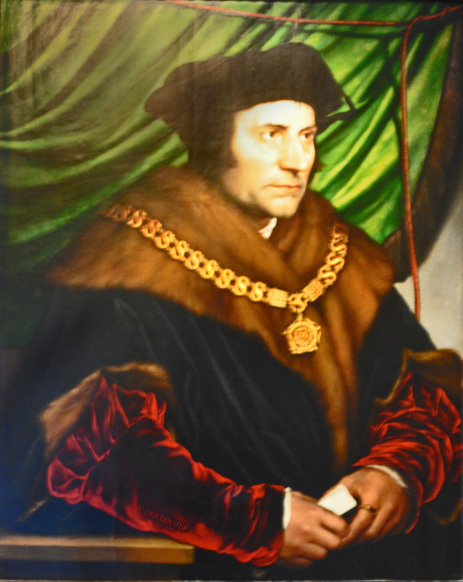 painting in the Frick in New York of Saint Thomas More by Holbein