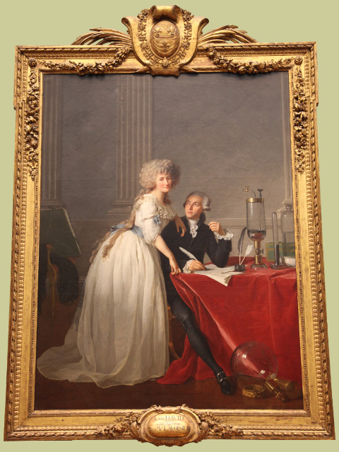 Antione-Laurent Lavoisier and wife Marie by J L David