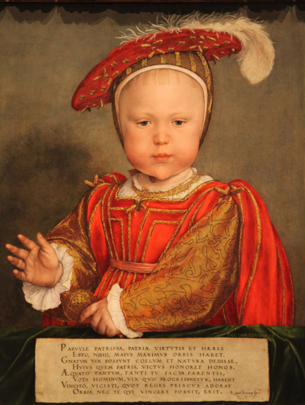 Portrait of Edward VI as a Child, painting c. 1538, by Hans Holbein the Younger