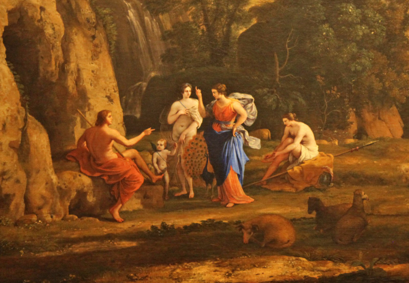 ... detail from the Judgment of Paris, by Claude Lorrain
