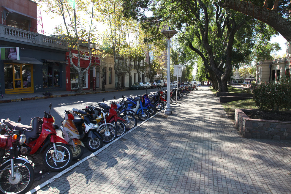 scooters in Colonia del Sacramento