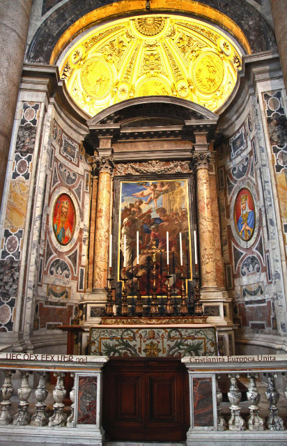 Altar in Saint Peters Basilica north transept