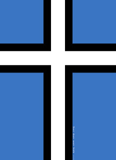 Eesti – Estonia flag with Christian Northern Cross