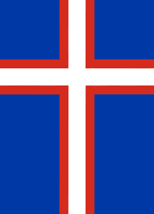 better Russian Flag as gonfalon with Nordic Cross