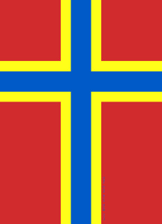 Arcaibh – Orkney Islands flag with Christian Nordic Cross