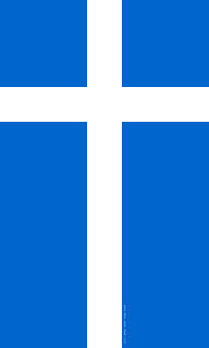 Sealtainn – Shetland flag with Christian Nordic Cross