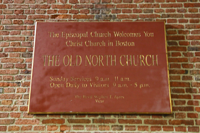 "Old North Episcopal ""Church"" in Boston"
